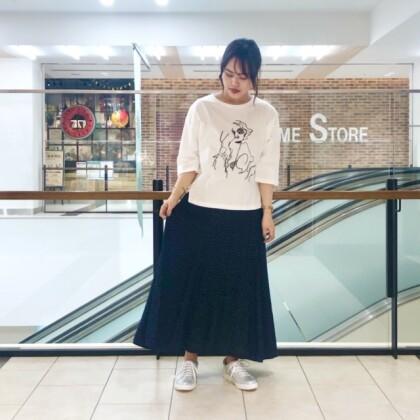 ◆レオパード柄ロングスカート