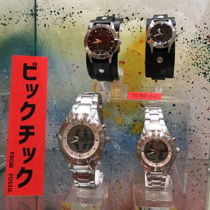 BIG TIC 復刻モデル!!FOSSILの腕時計!