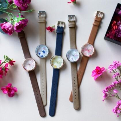 本物のお花が腕時計に?!衝撃の可愛さ。SPICAxguiコラボ