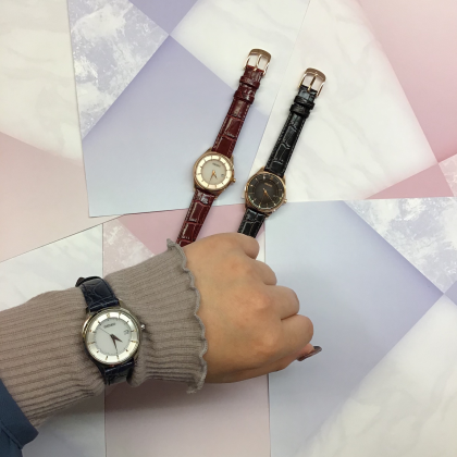 セイコー レディース腕時計 電池交換いらずのソーラー時計。