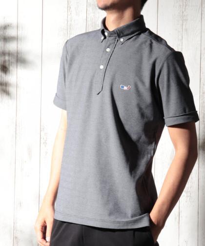 クジラ刺繍ポロシャツ