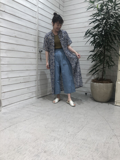 Liana Flower 5分袖ワンピース