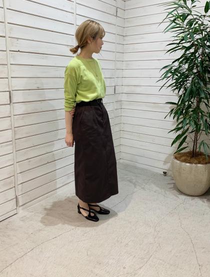 SOLOTEX カルゼ ベルト付きスカート