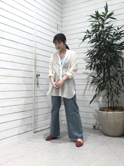 綿麻スラブローン ロングシャツ