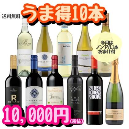 お家飲みにピッタリな10本ワインセット