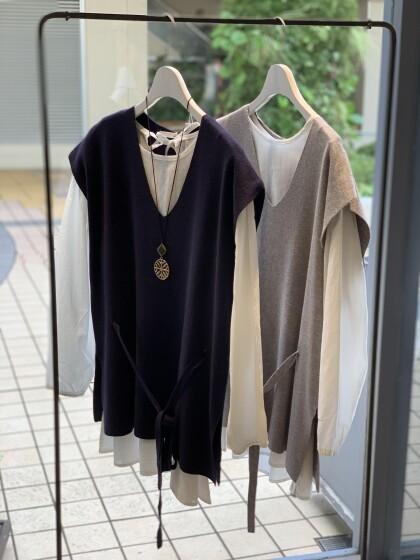☆ブラウス+ニットベスト セット☆