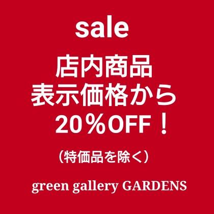 【7月11日まで】店内商品20%OFF!