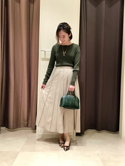 【Ladies】トレンド☆フェイクレザースカート