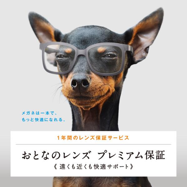 初めての方でも安心!メガネ1本で遠くも近くも見ることができるレンズの保証サービス「大人のレンズ プレミアム保証」