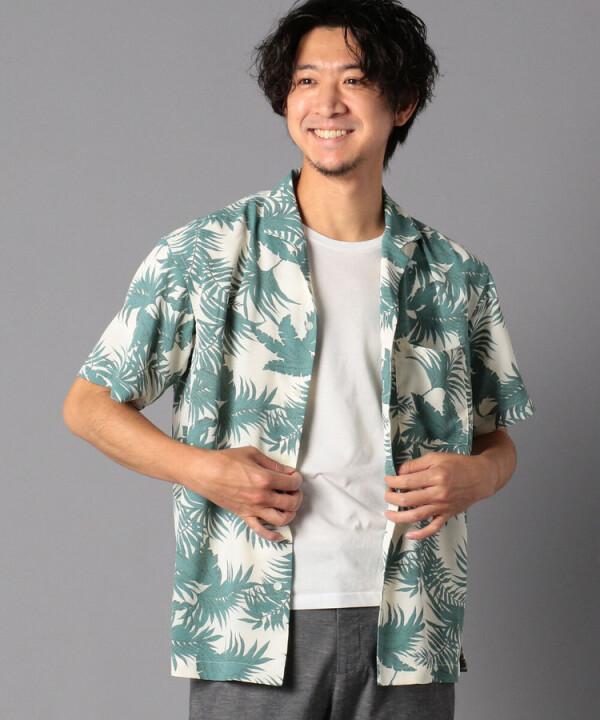 総柄オープンカラーアロハシャツ