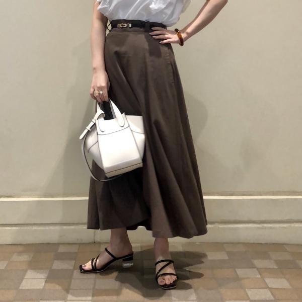 ♡麻素材ロングフレアスカート♡