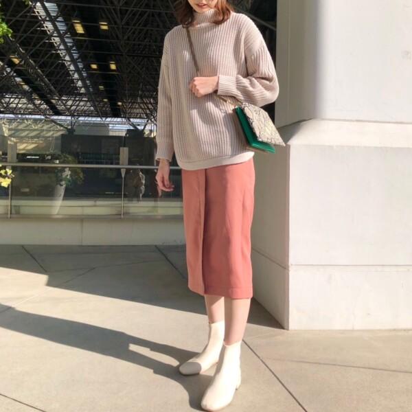♡春まで使えるカラースカート♡