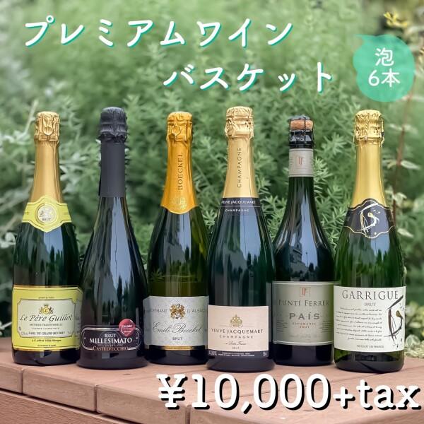 シャンパン入り!辛口泡の6本セットで夏に備えましょう!