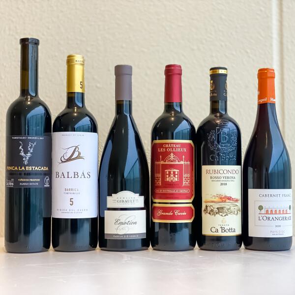 毎月大人気!ちょっとプレミアムな赤ワイン6本セット!