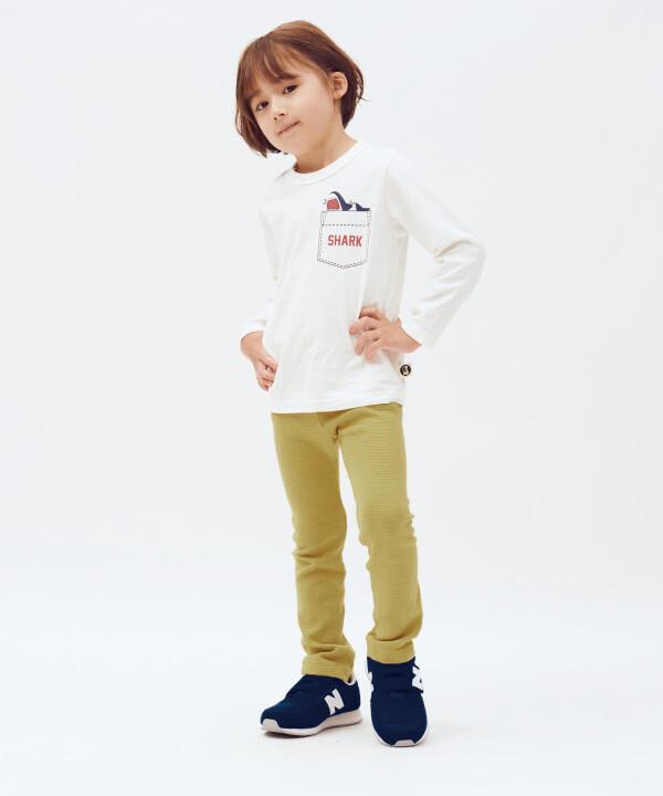 【ポケット風ロングTシャツ】