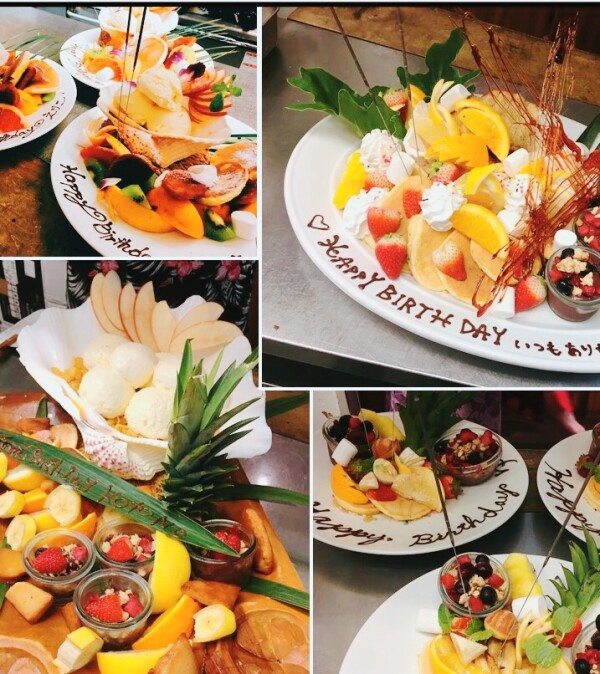 お祝い・記念日・特別な日にはデザートプレート