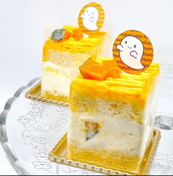秋のグルメ かぼちゃのショートケーキ