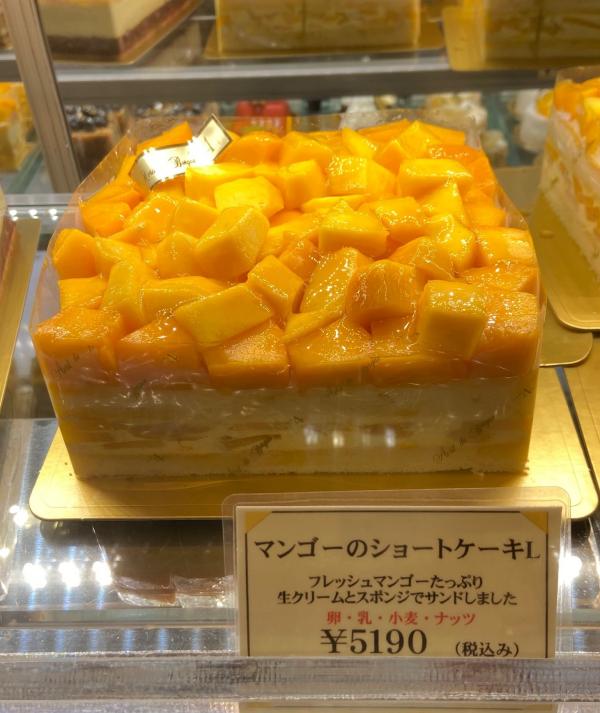 特大!贅沢なマンゴーのショートケーキ