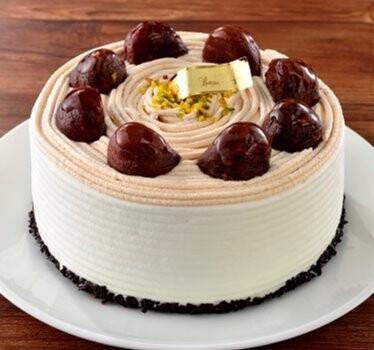 秋限定!マロンのショートケーキ