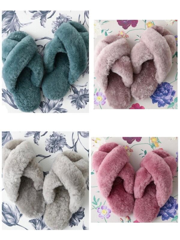 【NEW】ふわふわの羊毛✨あったかルームシューズ✨