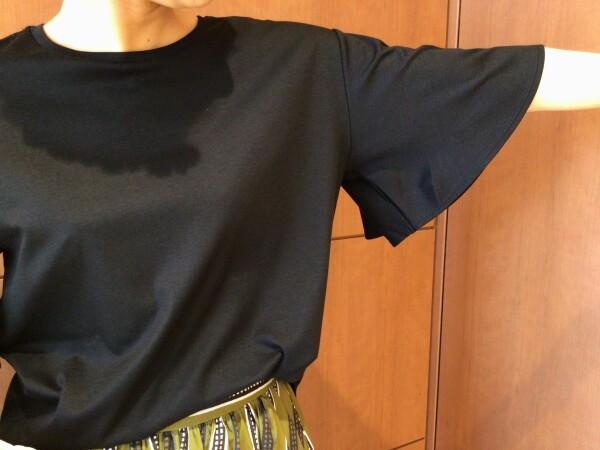 【Ladies】細見え効果も◎フレアスリーブTシャツ