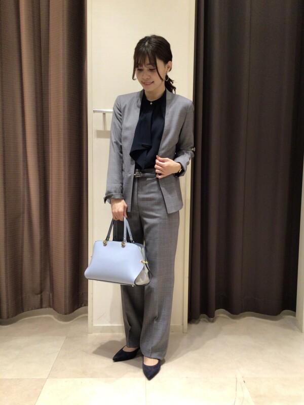 【Ladies】美シルエット☆チェック柄スーツ