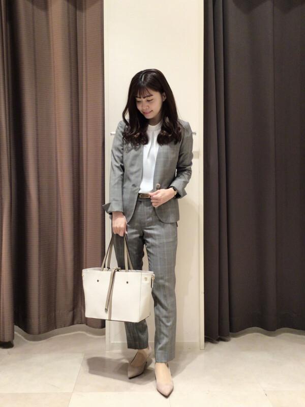 【Ladies】スタッフのイチオシ☆チェック柄スーツ