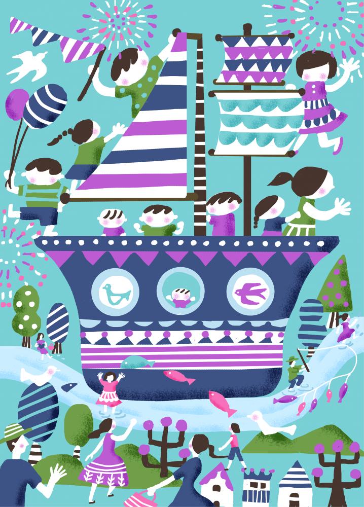 夏装飾『Bon voyage Summer』