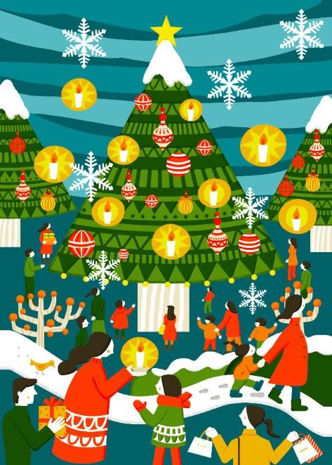 【クリスマス】クリスマス装飾『TERRACE CHRISTMAS~REACH YOU~』