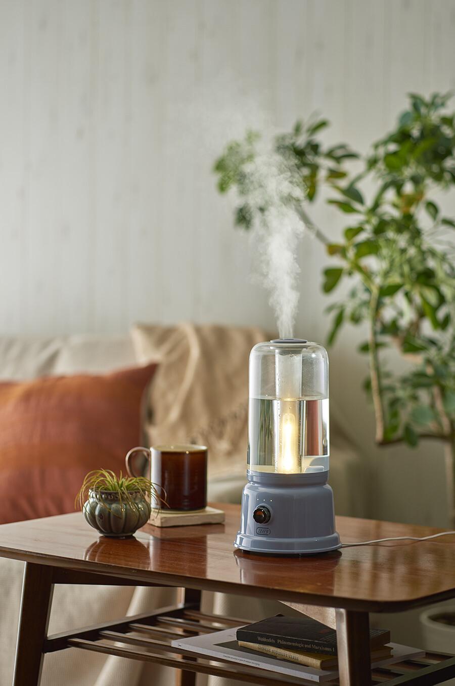 ランプにもなる加湿器、新発売。