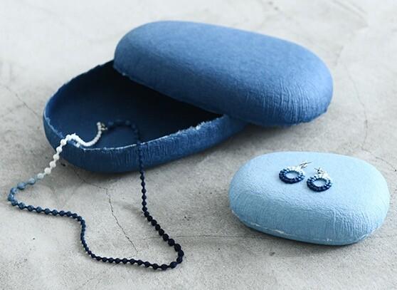 【別注カラー】本藍染刺繍OOO(トリプルオゥ)アクセサリー